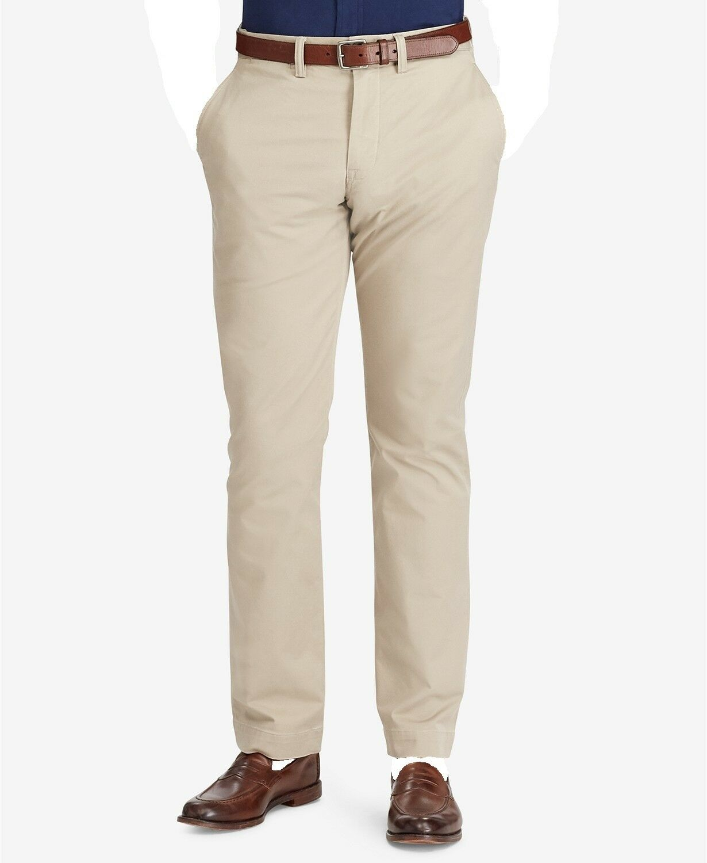 POLO RALPH LAUREN Men's CLASSIC-FIT BROWN FLAT FRONT DRESS PANTS 38 W 34 L