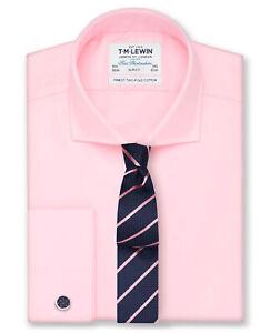 T-M-Lewin-Pink-Twill-de-Superdry-de-Calce-Cenido-Cuello-de-Corte