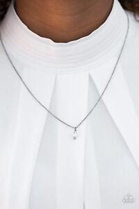 ee19da543573 Paparazzi ~ Dainty   Demure ~ Black Gunmetal Short Necklace ...