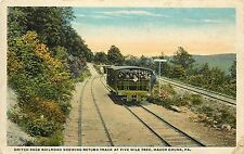 Vintage PC Switch Back Railroad Return Track at Five Mile Tree, Mauch Chunk, PA