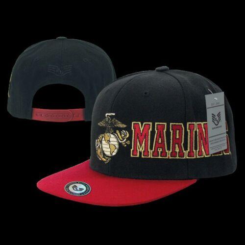MARINES OLD SCHOOL RETRO FLAT BILL  Military Baseball Cap