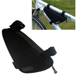Black 2017 New Cycling Bike Bicycle Frame Front Tube Triangle Bag Quick Release