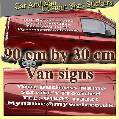 CUSTOM CAR STICKERS Decal Vinyl Personalised Name Lettering Car / Window /  Van