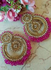Big Chandni Pearl Tika set indianJewellery Earring Tikka Set Stone Gold UK