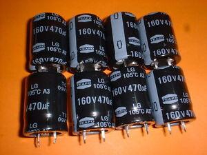 8x-Elko-470-F-160V-105-C-22x30mm-Snap-In-470uF