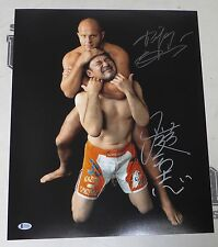 Fedor Emelianenko & Kazushi Sakuraba Signed 16x20 Photo BAS Beckett COA Pride FC