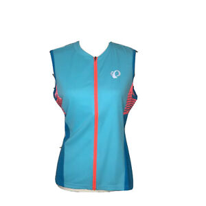 Small Pearl iZUMi W Select Pursuit Cycling Jersey Aqua Blue//Atomic Diffuse
