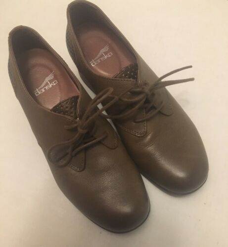 Dansko Womens Louella Lace-up Oxford Brown Leather