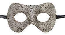 Men's Leather Snakeskin Masquerade Mask Dominatrix 50 Shades of Gray Punk Rock