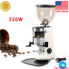 Commercial Espresso Coffee Bean Grinder Micro Adjust Table Electric Grind Machin