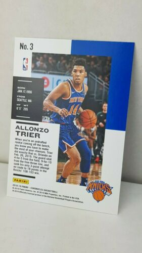 knicks 2018-19 Panini Chronicles #3 allonzo Tréveris RC