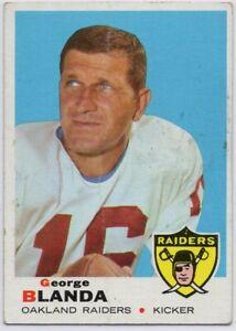 1969-Topps-232-George-Blanda-VG-VG-Wrinkle-Oakland-Raiders-FREE-SHIPPING
