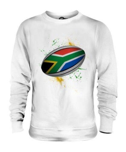 Sudáfrica Pelota de Rugby Salpicadura Unisex Suéter Regalo Top Copa Del Mundo