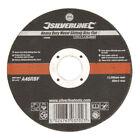 Silverline Heavy Duty Metal Slitting 115 x 1 x 22.2mm Cutting Disc Flat 103662