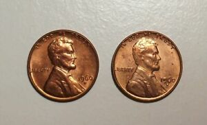 1960-Lincoln-cent-uncirculated-LARGE-amp-SMALL-DATES