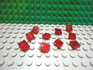 Lego 10 Black 1x1 roof finish tile 30 degree slopes NEW