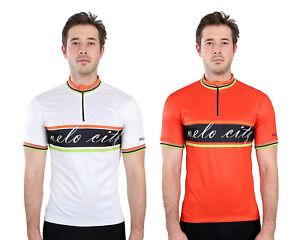 Nouveau-POLARIS-VELO-CITY-Style-Retro-a-manches-courtes-cyclisme-Cycle-Jersey