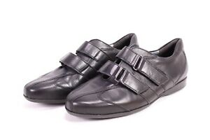 C1795 Theresia M. Komfort Sneaker Halbschuhe Leder Gr. 38 (5 H) schwarz Klett