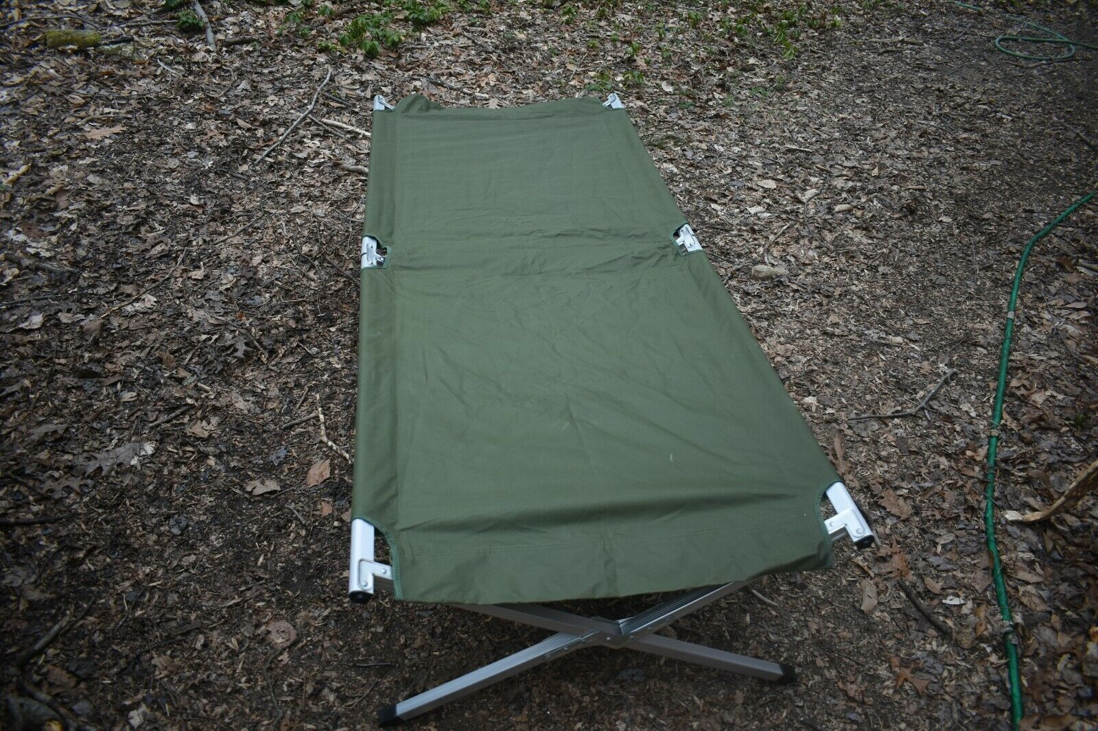 Olive  green one man sleeping Cot  save up to 50%