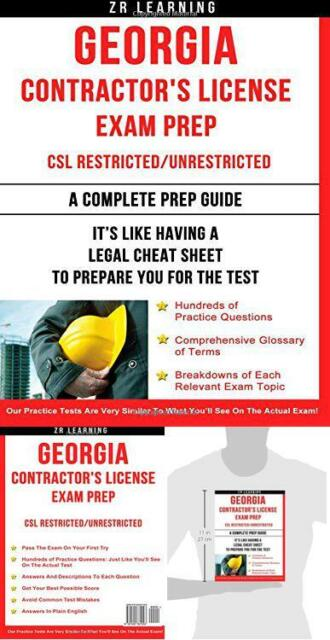 Georgia Contractor's License Exam Prep by Z  R  Learning (2014, Paperback)