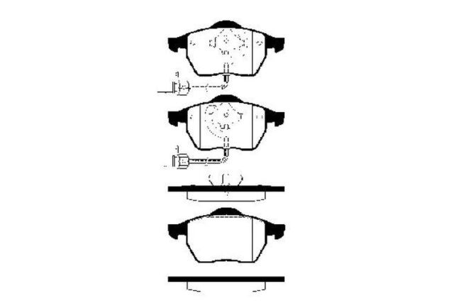 Bremsbelagsatz Scheibenbremse KRAFT AUTOMOTIVE 6000075