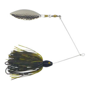 Artizan-Double-Trouble-Spinnerbait-Candy-Silver-Willow-Blade-5-Head-Weights