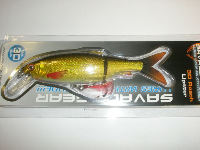 SAVAGE GEAR 3D GARDON Lipster 13cm 26g ferme LEURRE tous coloris pêche