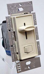 Lutron-Skylark-S-603PG-LA-Halogen-Slide-Rocker-Light-Dimmer-Switch-600w-ALMOND