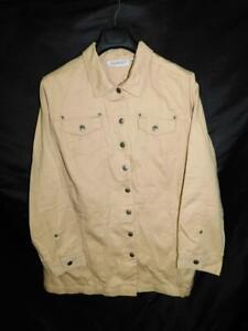 Roaman-039-s-18W-Light-Brown-Jacket-Button-Front-Unlined-Cotton-Woman-18W