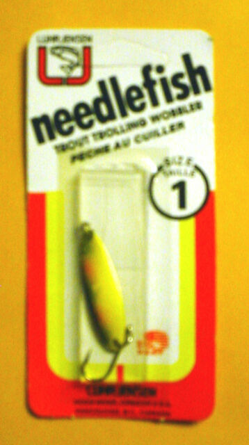 **Vintage**  Luhr Jensen Needlefish 1051-001-181 Sz 1 Glo//Blue Stripe