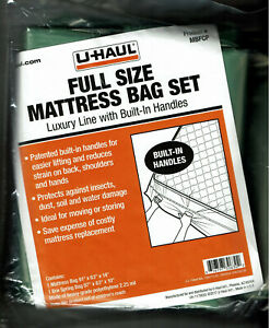 NEW! UHAUL Full Size Mattress Bag Set Luxury Line with ...