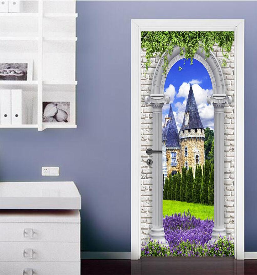 3D Haus 756 Tür Wandmalerei Wandaufkleber Aufkleber AJ WALLPAPER DE Kyra | Bevorzugtes Material  | Praktisch Und Wirtschaftlich  | Feine Verarbeitung