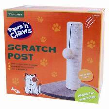 Activity Corner Cat Scratching Post Pole Activity Catnip Play Climbing Sisal UK