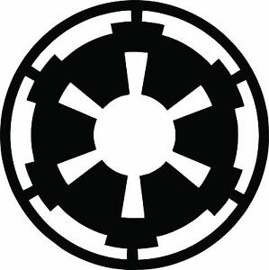 empire symbol logo vinyl decal star wars the force. Black Bedroom Furniture Sets. Home Design Ideas