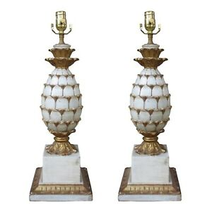 Mid-Century-Italian-Carved-Wooden-Pineapple-Lamps