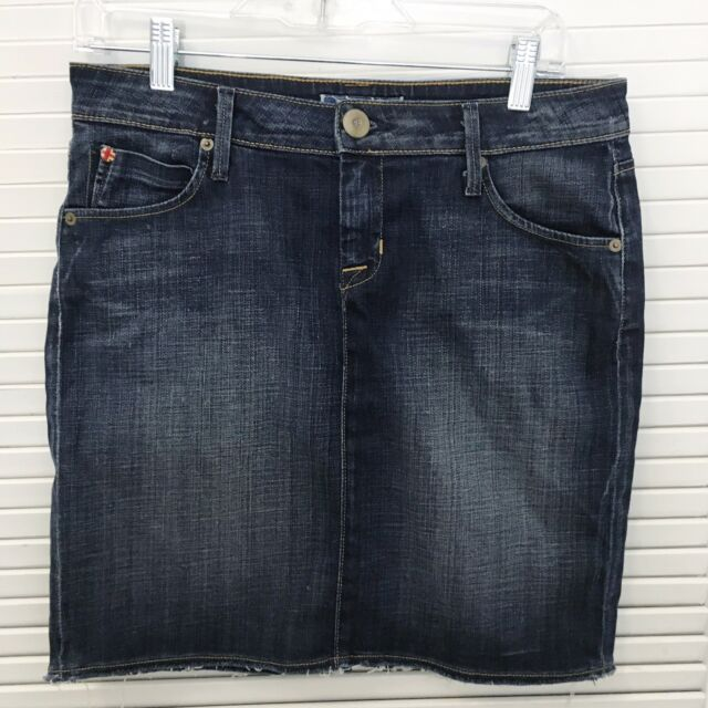 d0b5081644c Hudson Jeans Women s Denim Skirt Pencil Straight Distressed Flap Pocktets 28