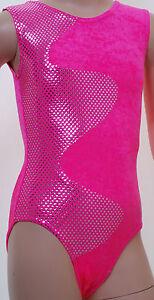 Galaxy-No-Sleeves-Girls-Ladies-Gym-Dance-Disco-Gymnastic-leotard-Pink