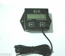 Motorcycle Hour Meter Tachometer RPM Digital LCD Generator Outboard For Yamaha