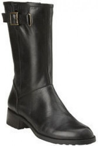 Easy Spirit Izona boot mid calf black leather 5 Md  NEW