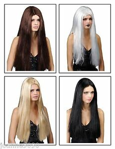 LADIES-CLASSIC-LONG-STRAIGHT-24-034-FANCY-DRESS-WIG-HALLOWEEN-COSTUME-PARTY-HAIR