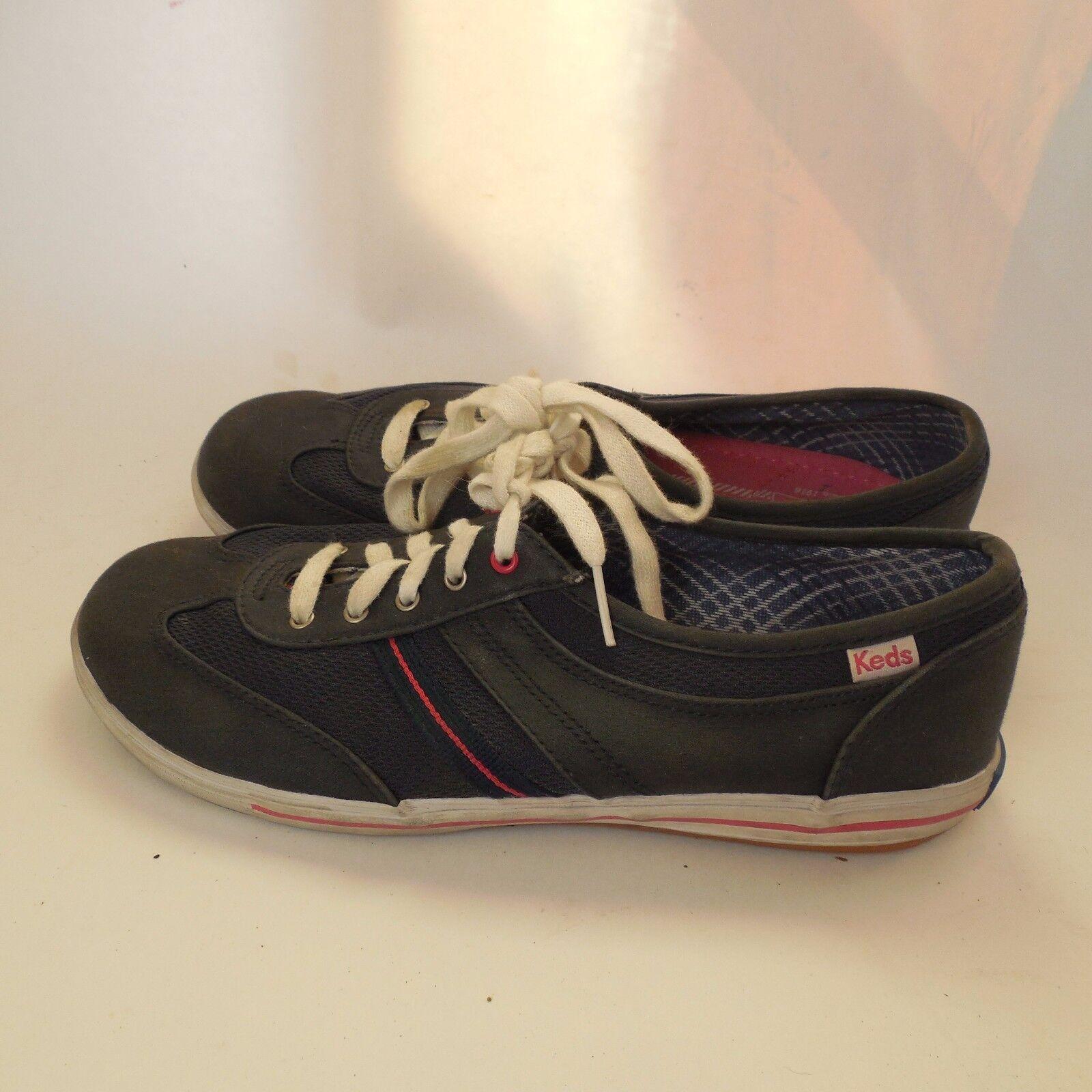 Keds sz 7.5M Navy bluee Tennis shoes Womens Ladies Sneakers shoes WF46598M Pink