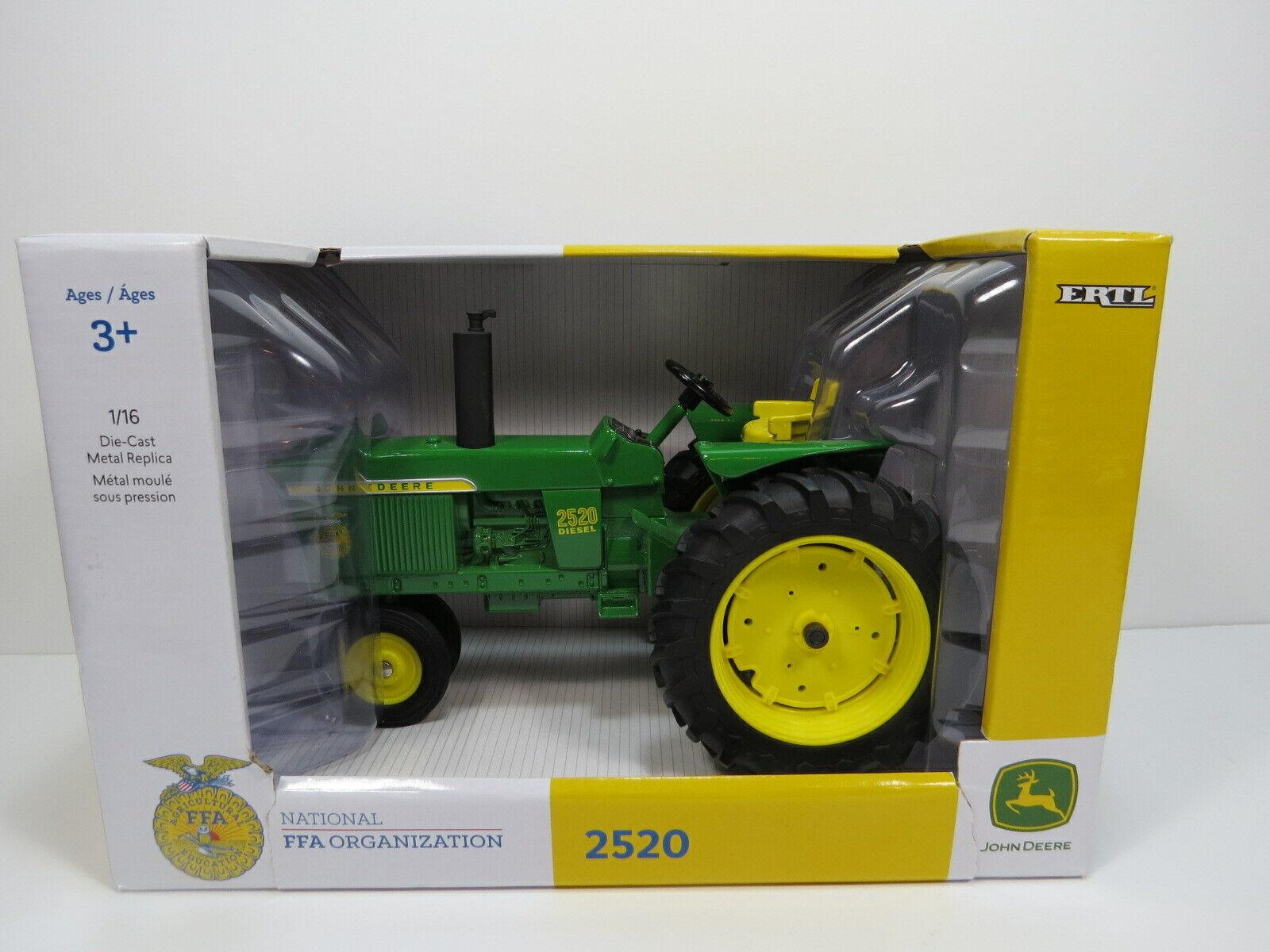 NEW John Deere ERTL Diecast FFA Model 2520 Diesel Tractor 1 16  S4 9