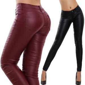 4b89cd0c0e3824 Caricamento dell'immagine in corso Pantaloni-donna-elasticizzati-aderenti- push-up-eco-pelle-