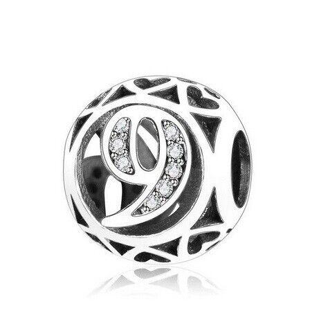 Numéro de charme argent Nombre Charms 0 1 2 3 4 5 6 7 8 9 perles charms numéros