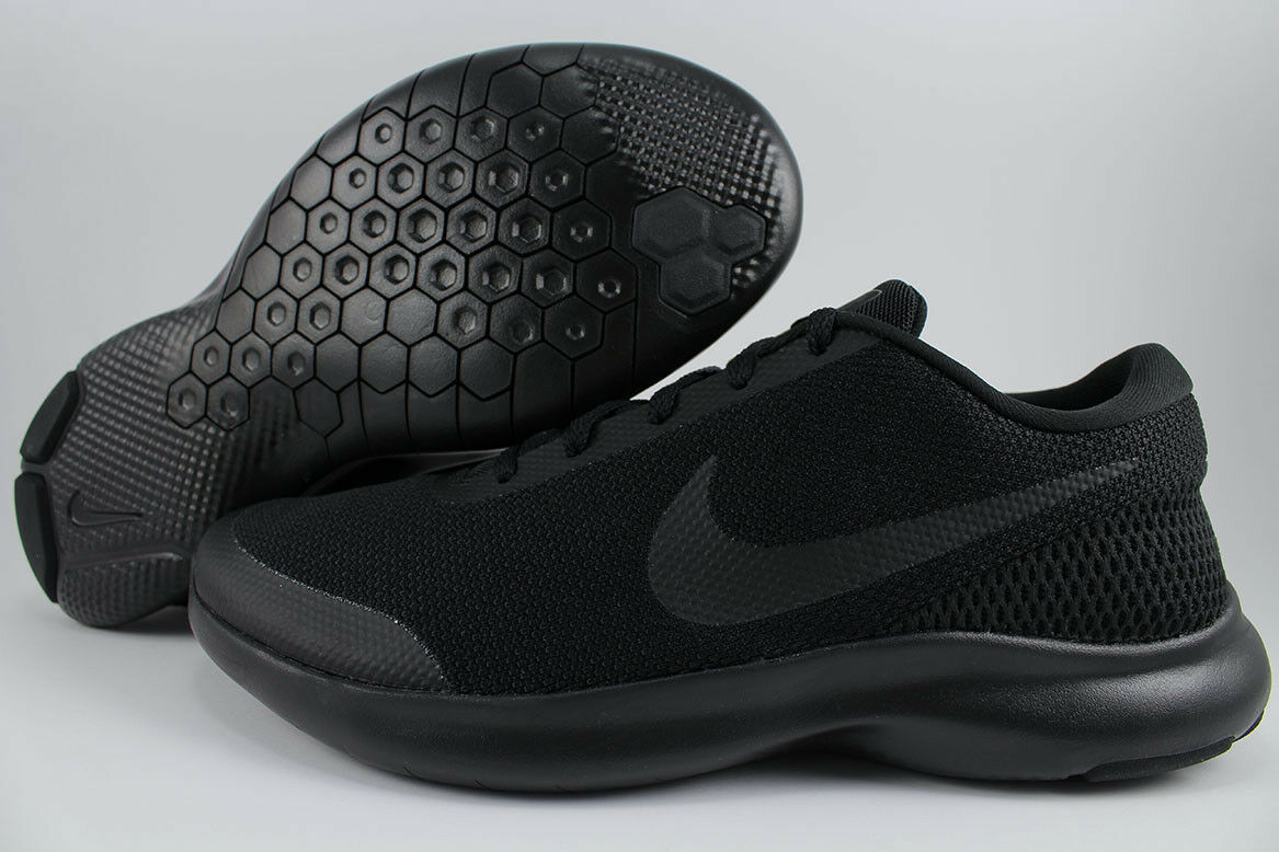 Nike - flex esperienza correre 7 extra larghi 4e di triplo nero correre noi uomini.
