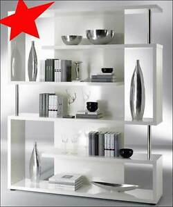 b cherregal raumteiler regal twist hochglanz weiss ebay. Black Bedroom Furniture Sets. Home Design Ideas