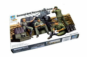 TRUMPETER-Military-Model-1-35-German-Anti-Aircraft-Gun-Crew-Hobby-00432-P0432