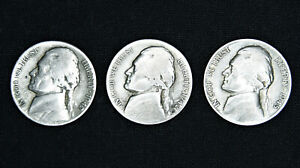 Jefferson War Nickels 35/% Silver 1942-1945 Bullion US Coins Choose How Many!