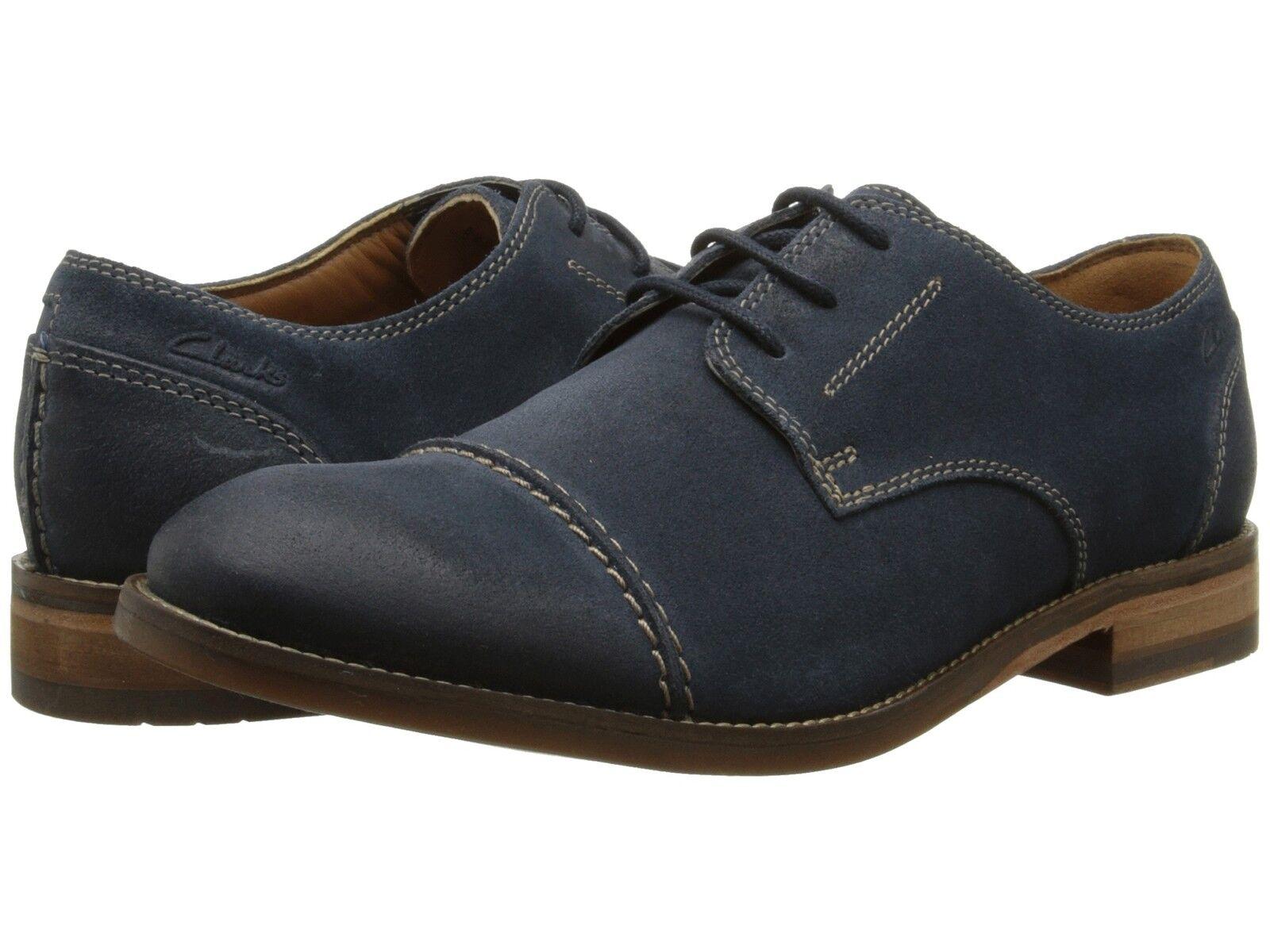 Men's Clarks 1825 Collection Exton Cap LaceUp shoes bluee Navy Suede 26107734