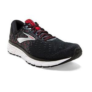 BROOKS-GLYCERIN-17-Scarpe-Running-Uomo-Cushion-BLACK-RED-110296-021